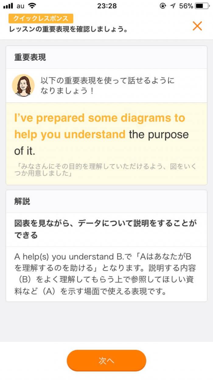 スタディサプリENGLISH(日常英会話コース)「クイックレスポンス」